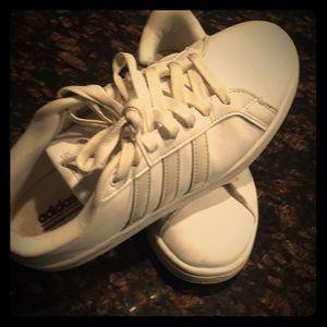 Adidas cloudfoam memory footbed sneakers..